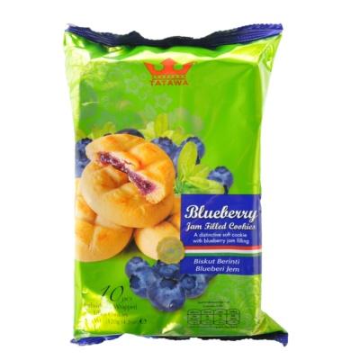Tatawa蓝莓果酱软曲奇饼干 120g