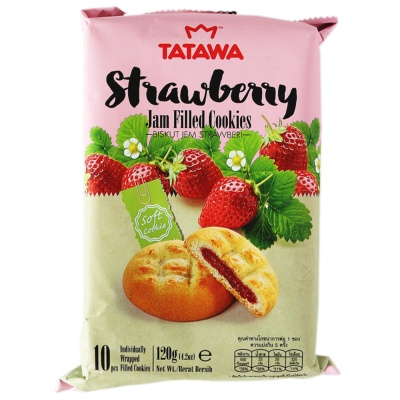 Tatawa Strawberry Jam Soft Cookie 120g