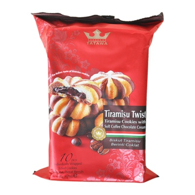 Tatawa Tiramisu Cookies with Soft Coffee Chocolate Cream 120g