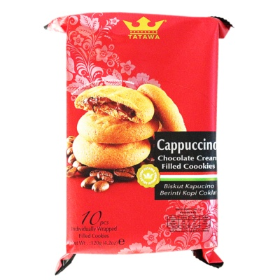 Tatawa Cappuccino Chocolate Cream Filled Cookies 120g