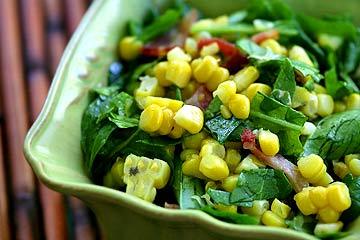 Arugula Corn Salad with Bacon (0032)
