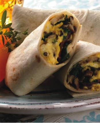 Bacon, Egg, & Mushroom Burritos (0060)