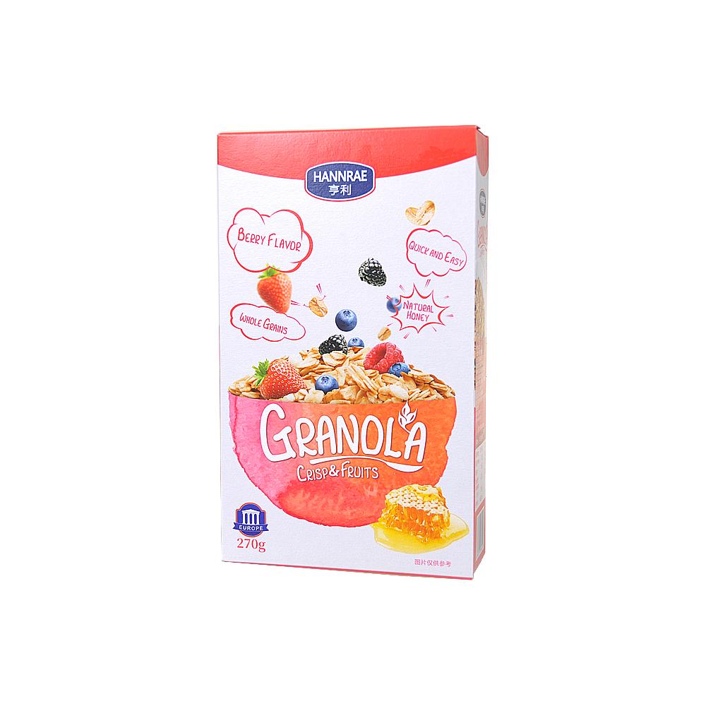 Hannrae Granola Crispy Muesli With Berries 270g