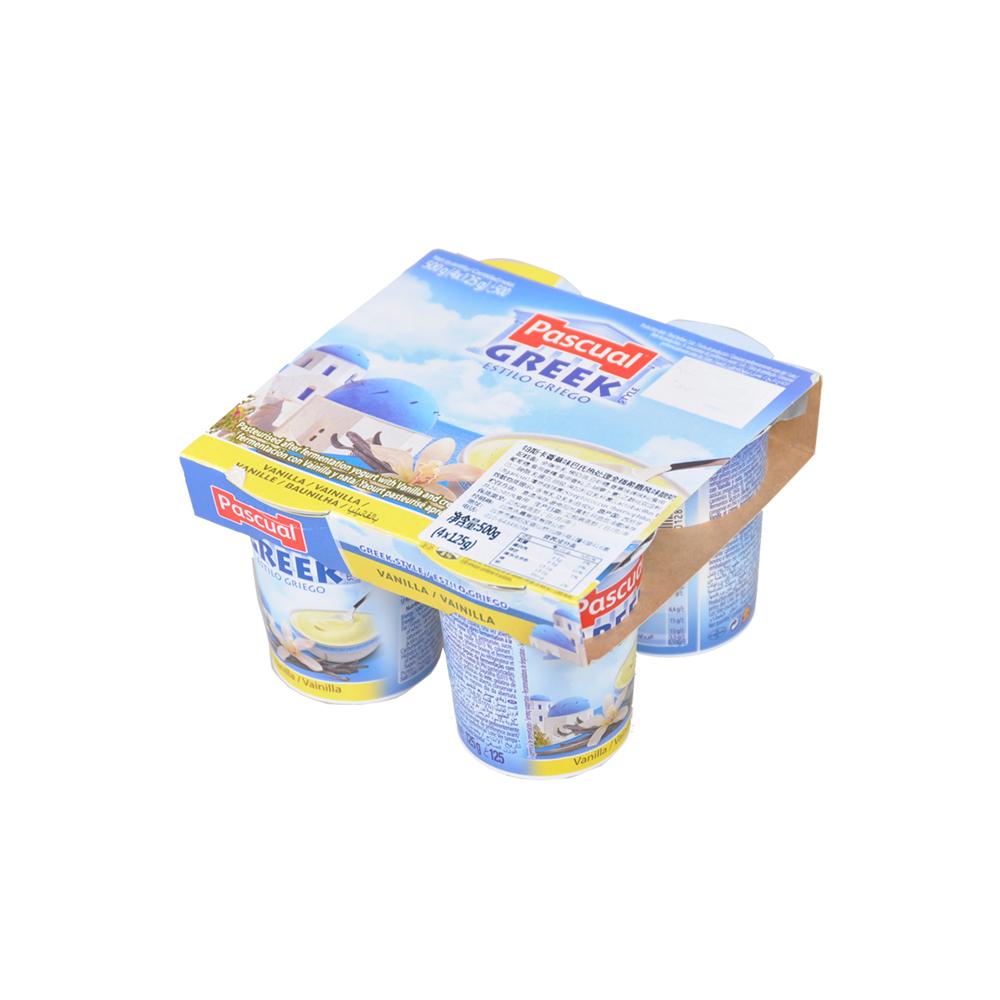 帕斯卡原味巴氏热处理全脂希腊风味酸奶 4*125g