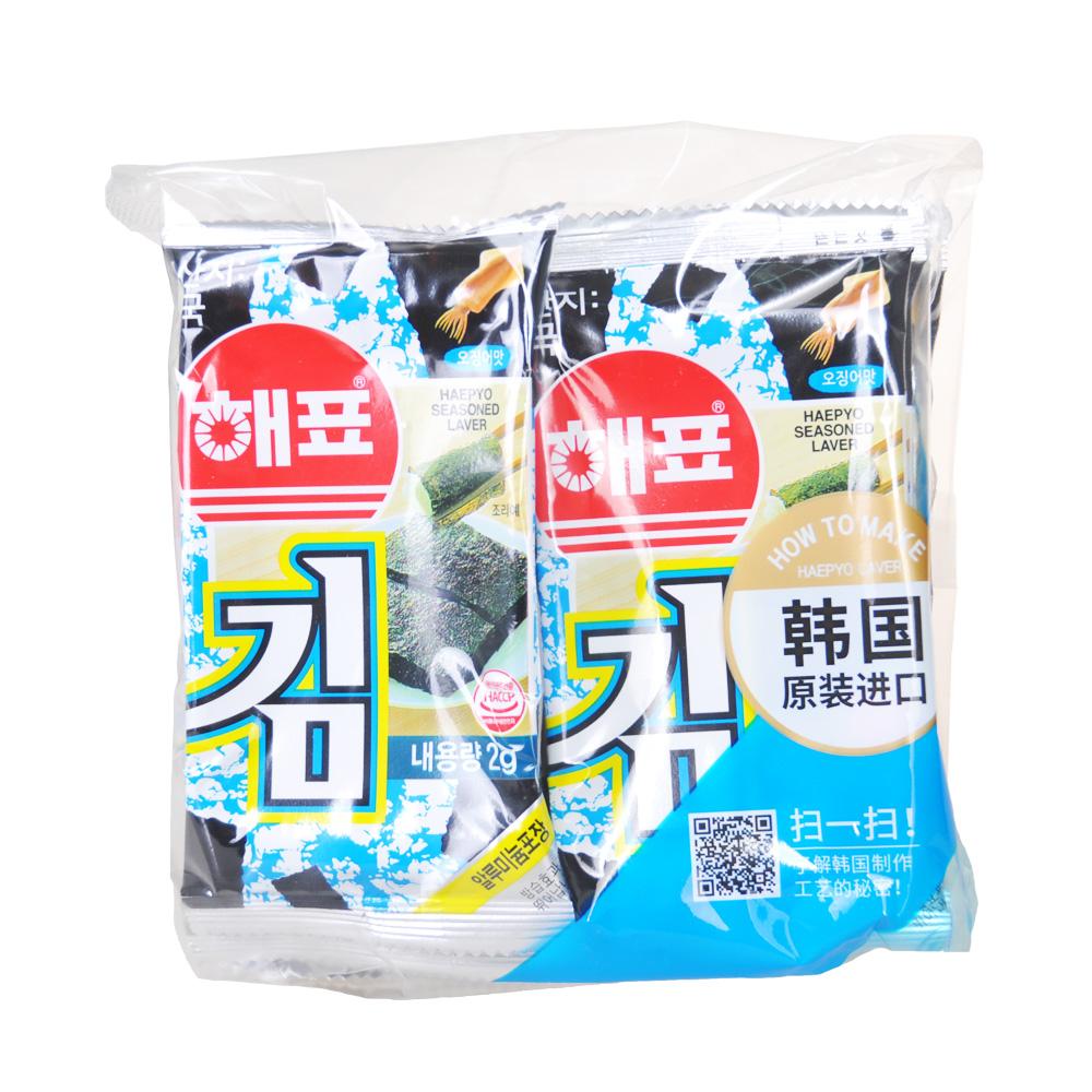 Haepyo Squod Flavour Seasoned Laver 8*2g