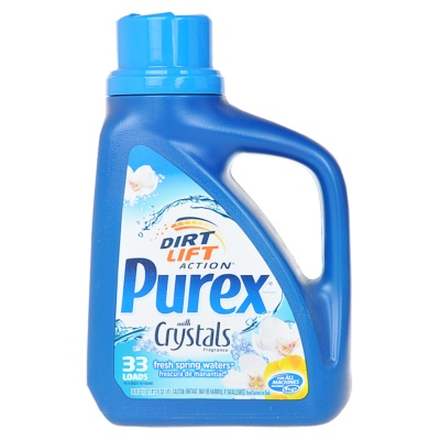 Purex Dirt Lift Action with Crystals Fresh Spring Waters Laundry Detergent 33 Loads 1.47L