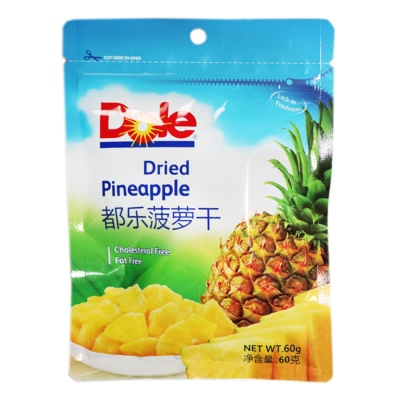 Dole Dried Pineapple(Cholesterol Free&Fat Free) 60g