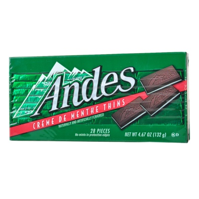 Andes Cream Mint Thins Chocolate 132g