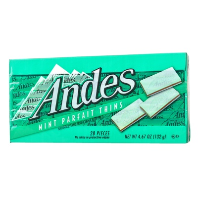 Andes Mint Parfait Thins Chocolate 132g