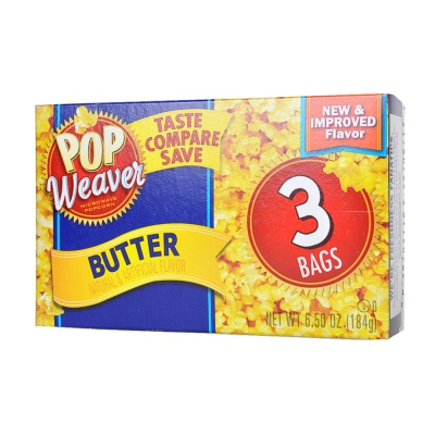 Pop Weaver Butter Popcorn 183g