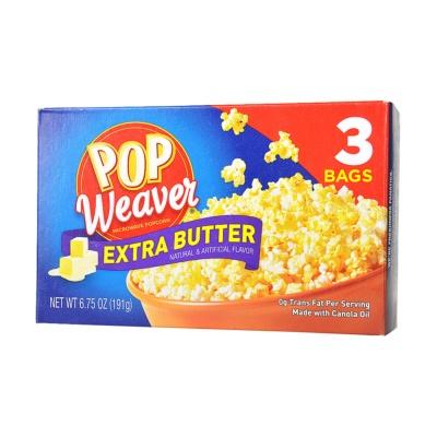 Pop Weaver Extra Butter Microwave Popcorn 191g