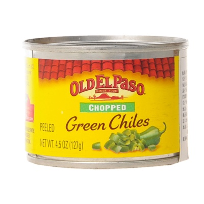 Old El Paso Chopped Peeled Green Chiles 127g