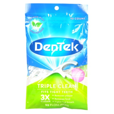 Dentek Triple Clean Floss Picks 90p