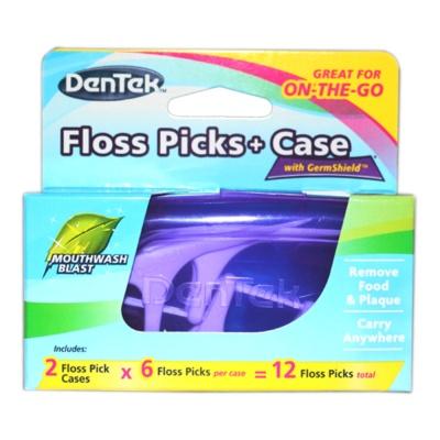 Dentek Floss Picks + Case 2*6p
