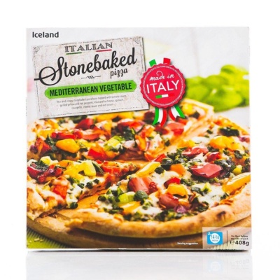 Iceland Mediterranean Style Vegetable Stonebaked Pizza 401g