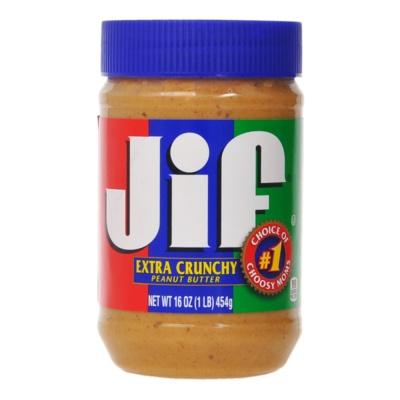 Jif Extra Crunchy Peanut Butter, Regular 454g