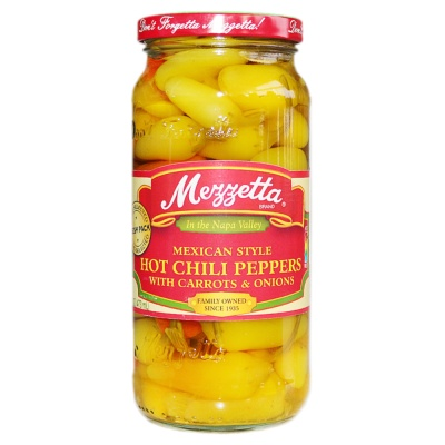 Mezzetta Mexican Style Hot Chili Peppers (With Carrots & Onions) 473ml
