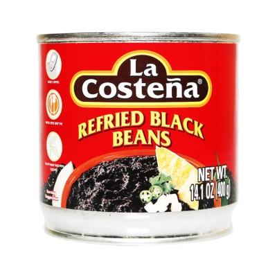 La Costena Refried Black Beans 400g