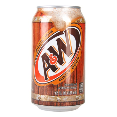 A&W Root Beer Carbonated Water 355ml