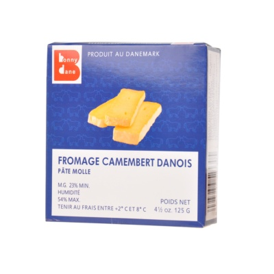 Bonny Dane Danish Camembert Cheese Soft Ripened 125g