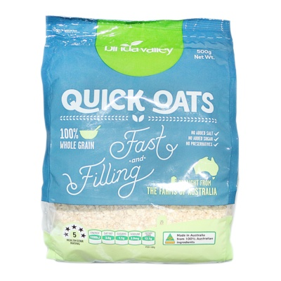 Binda Valley 100% Whole Grain Quick Oats 500g