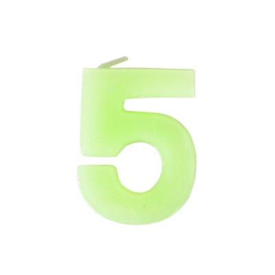 数字5蜡烛