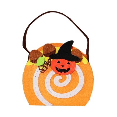 (Pumpkin Cloth Bucket)(Black Hat)