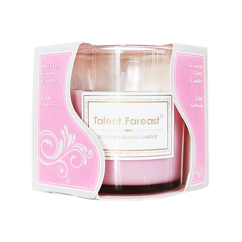 Scented Galss Candle Lilac And Peony