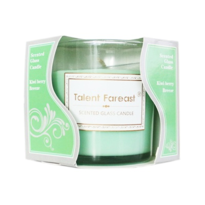 Scented Galss Candle Kiwi Berry Breeze