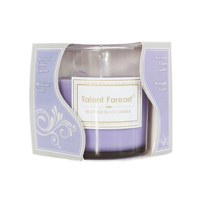 Scented Galss Candle Midnight Violet