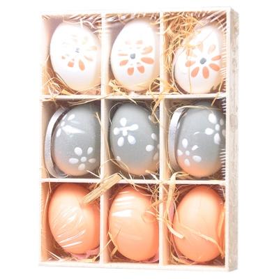 复活节彩蛋4cm彩色 9粒