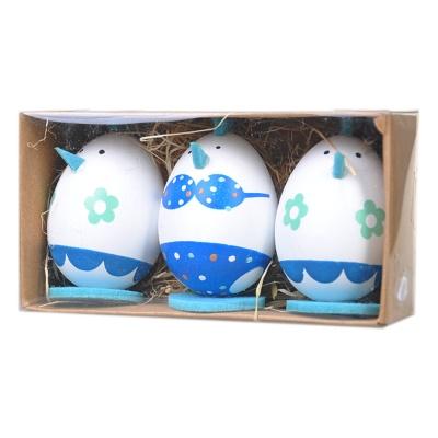 Easter Eggs 6cm Chick Decoration 3p