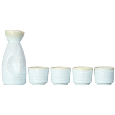 Japanese-Style Ceramic Jug&Cups-Spring Scenery