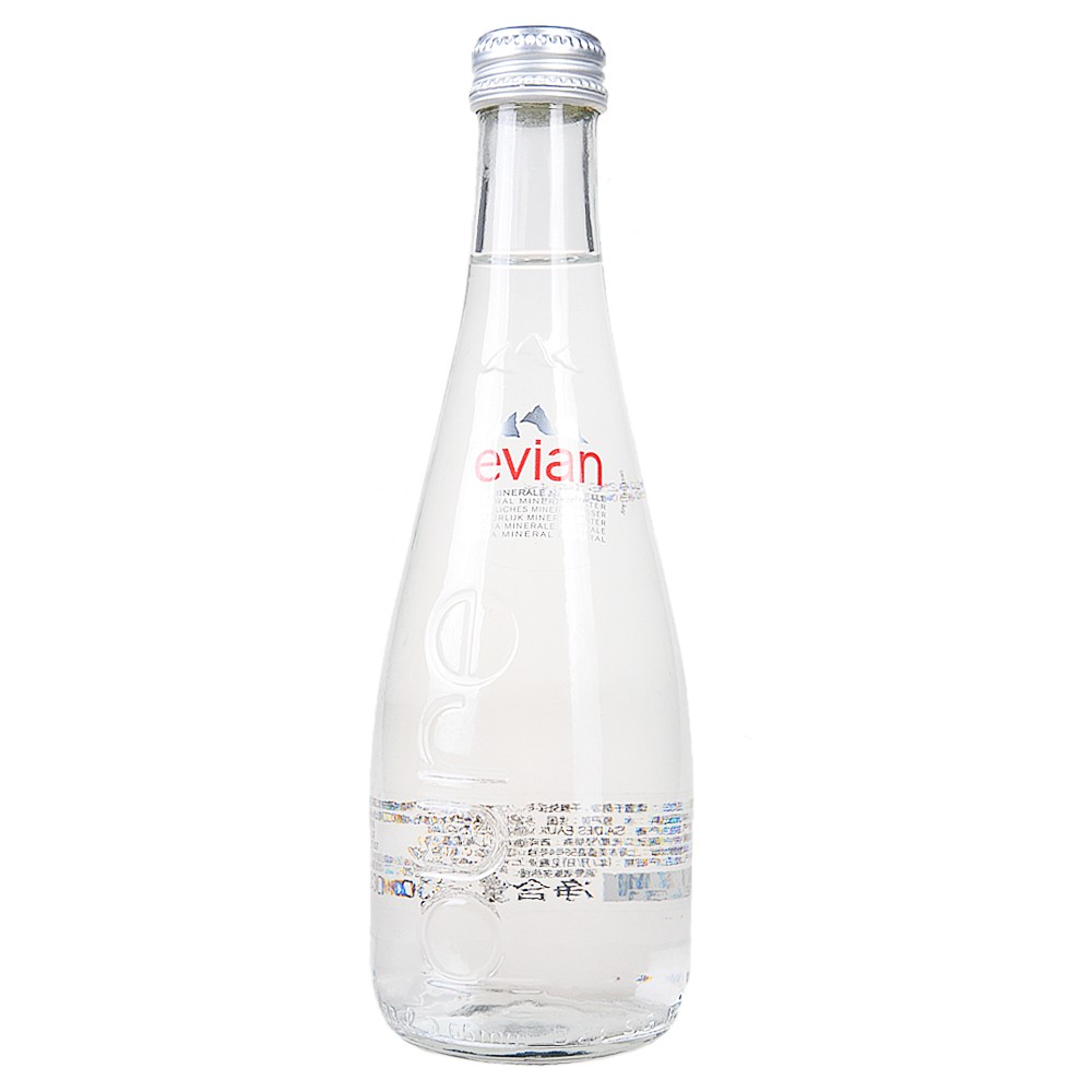 Evian Natural Mineral Water (Glass Bottles) 330ml