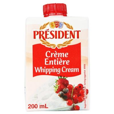 总统牌超高温消毒稀奶油 200ml