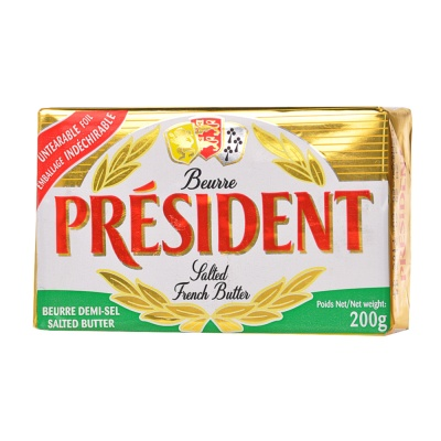 President Salted French Butter (80% Fdm) 200g