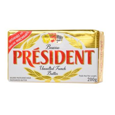 President Unsalted Butter Pack (82% Fdm) 200g