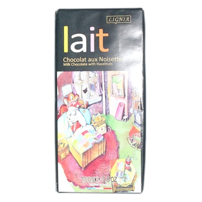 Lait French Milk Chocolate with Hazelnuts 100g