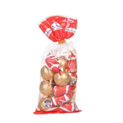 红色糖纸的圣诞老人和金色糖纸的巧克力球(有挂绳) 200g