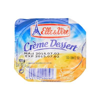 Elle & Vire Crème Dessert Vanilla Pudding 100g
