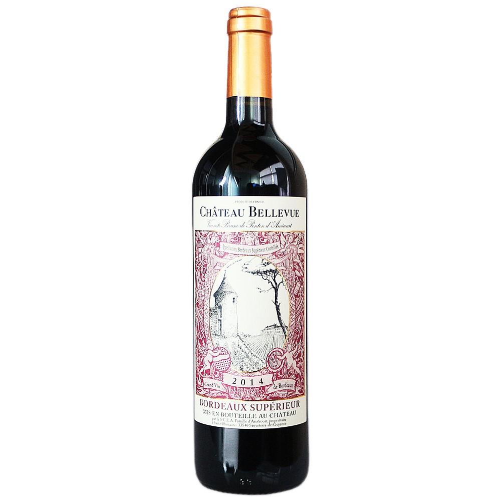 Bellevue Bordeaux Dry Red Wine 750ml