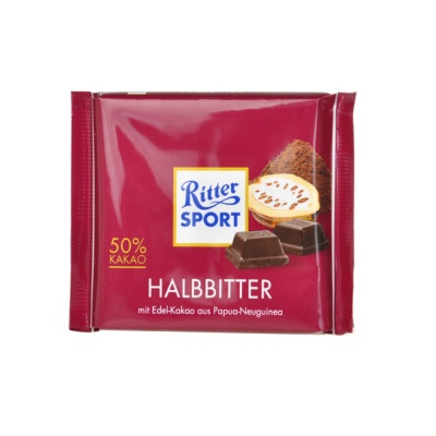 Ritter Sport 50% Kakao Dark Chocolate 100g