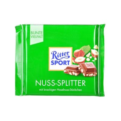 Ritter Chopped Hazelnut Milk Chocolate 100g