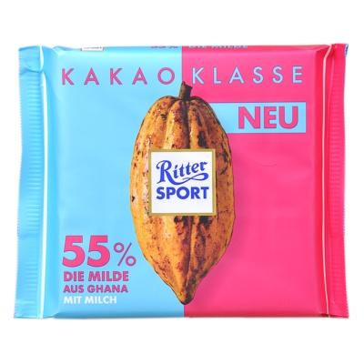 Ritter Sport 55% Die Milde Aus Ghana Chocolate 100g