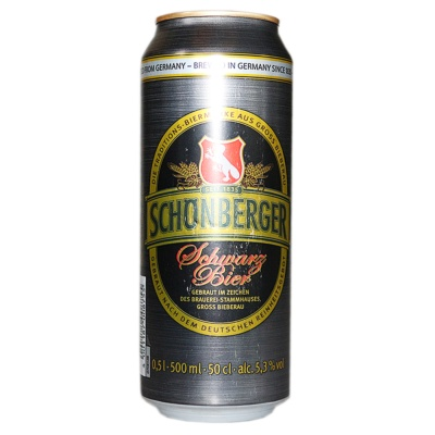 Schonberger Schwarzbier Dark Lager Beer 500ml