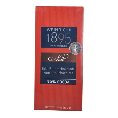 Weinrich's 1895 70% Cocoa Dark Chocolate 100g