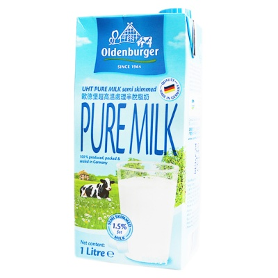 Oldenburger Semi-Skimmed Milk 1L