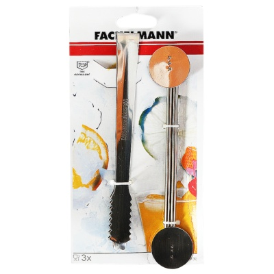 Fackelmann Ice Tongs and Drinking Spoon Set 3pcs
