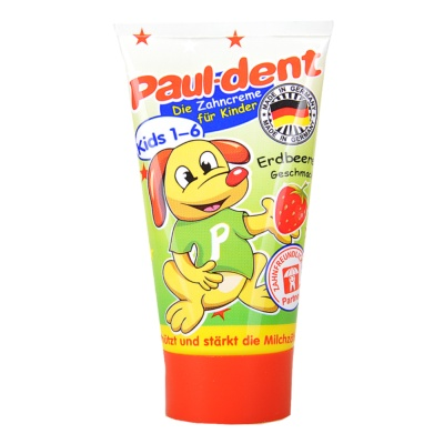 Paul-dent Strawberry Edible Kid Toothpaste (1-6 years) 50ml