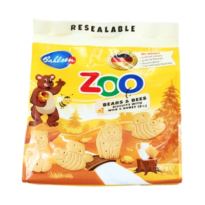 Bahlsen Bears & Bees Biscuits With Milk & Honey 100g